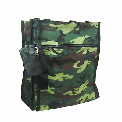 CLEARANCED PRICED Tote Purse Green Camo Shopping Bag