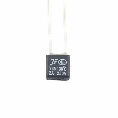 10Pcs New RH 130℃ Thermal Fuse 2A 250V