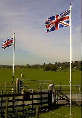 20ft Flagpole Aluminium Flag Pole With 2 Flags