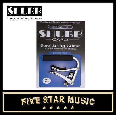 Shubb C1 Standard Capo Acoustic or Electric Guitar -NEW