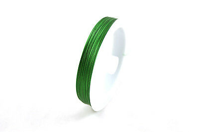 100m Grade A Green Tiger Tail Beading Wire 0.35mm