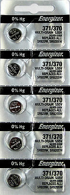 371 / 370 Energizer Watch Batteries SR920W 5 Batteries