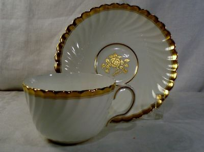 Minton Gold Rose Cup and Saucer