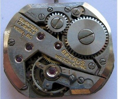used Benrus watch  movement 17 jewels
