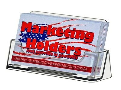 50 Clear Plastic Business Card Holder Display Stand