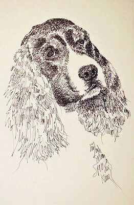 English Springer Spaniel Dog Art Print #56 Kline draws your dogs name free BLACK