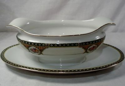 Noritake N1459 Gravy Boat with Attached Underplate