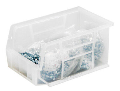 Stack and Hang Bin 9-1/4'' x 6'' x 5'', Box of 12 Clear