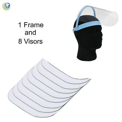 New Dental Medical Veterinary Protective Detachable Face Shield - Blue Frame
