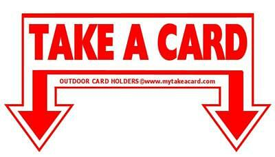Outdoor Sticker TAKE A CARD for Business Card Holders