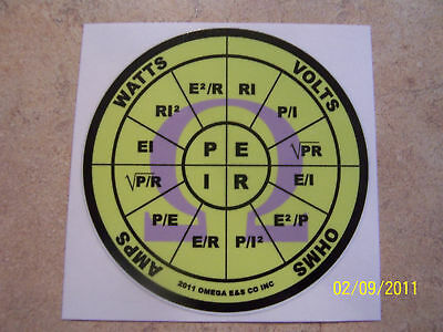 OHMS law sticker decal PEIR wheel Omega