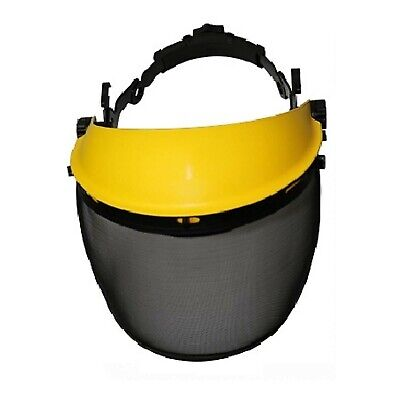 Protective Safety Visor with Clear & Mesh Face Shields