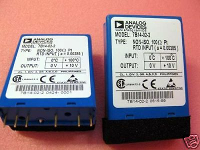 7B14-02-2, Analog Devices, Rtd Sig. Cond. Module, 1 Ea.