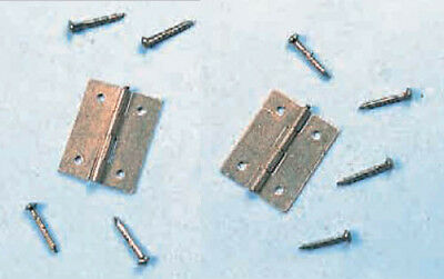 Expo A30042 Pack of 4  - 19mm Brass Hinges With Pins - 1st Class Post