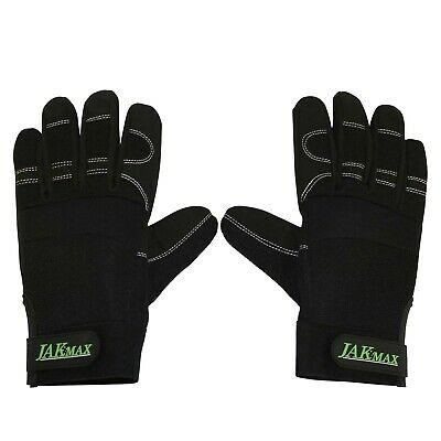 Anti Vibration Chainsaw Gloves 4mm Gel Black New