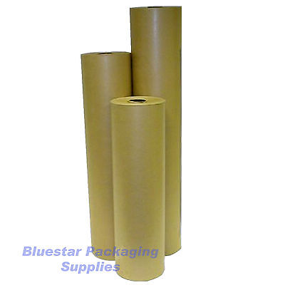 220m x 600mm Pure Kraft Brown Wrapping Paper Roll 90gsm