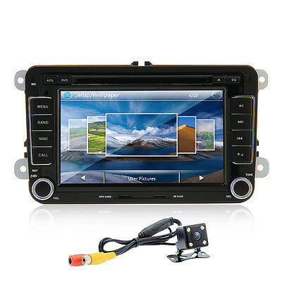 "for VW Passat Jetta Golf Touran Car GPS 7"" HD LCD Stereo 2 DIN DVD Player Camera"