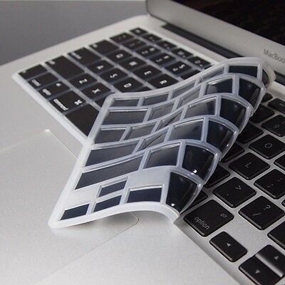 "BLACK SILICONE Keyboard Cover Skin for Macbook Air 13"" A1369"