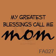 Mom Great Bless Vinyl Vynil Trendy Wall Art Sayings 1