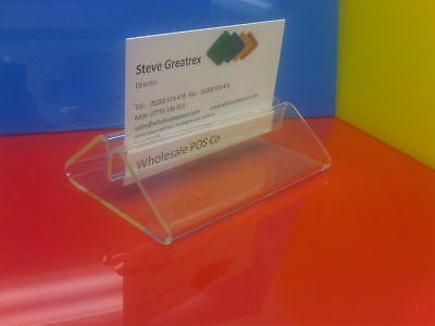 Acrylic Menu Sign Poster Holder Table Top Bar Counter Display Pack Of 10