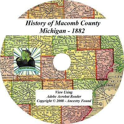 1882 History & Genealogy of Macomb County Michigan MI