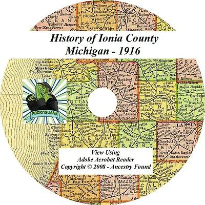 1916 History & Genealogy of Ionia County Michigan MI