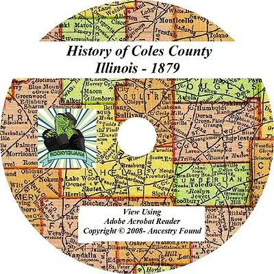 1879 History & Genealogy of COLES County Illinois IL