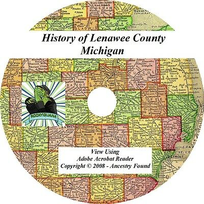 1909 History & Genealogy of Lenawee County Michigan MI