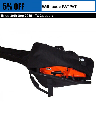 "Chainsaw Carry Case Cover Chain Bag Black Suits up to 20"" Bar Stihl Husqvarna"