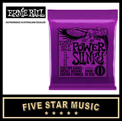 Ernie Ball Power Slinky 2220 Electric Guitar String Set 11-48 New E2220