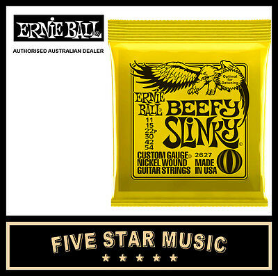 Ernie Ball Beefy Slinky 2627 Electric Guitar String Set 11-54 New E2627
