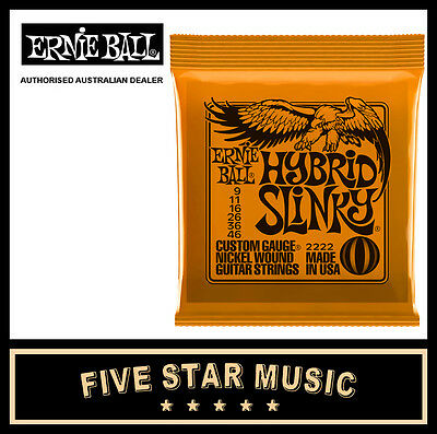 Ernie Ball Hybrid Slinky 2222 Electric Guitar String Set 9-46 New E2222