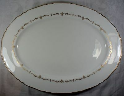 Royal Worcester Gold Chantilly 15 inch Oval Platter