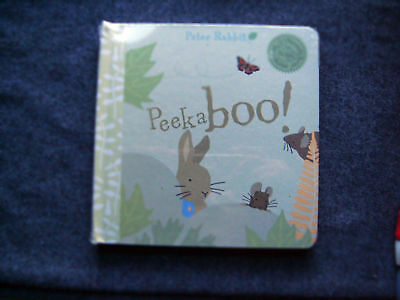 Pottery Barn Kids Peter Rabbit Peekaboo! Novelty Flap Book - New In Wrapper