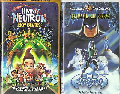 Jimmy Neutron: Boy Genius & Batman & Mr. Freeze;2 VHS Children & Family/Animated