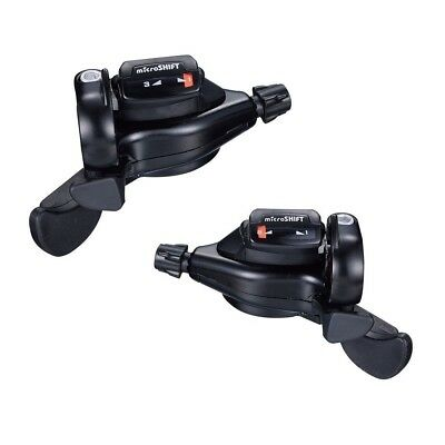 Microshift TS71-8 3 x 8 Speed Thumb-tap MTB Mountain Bike Bicycle Shifter Levers