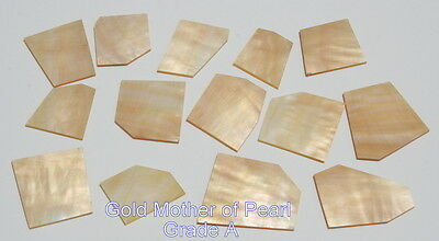 """1 oz inlay material gold mother of pearl shell blanks 0.050"""""""