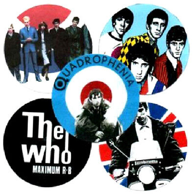 5 QUADROPHENIA & WHO BADGES. Mod, scooter.