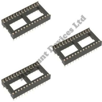 "28 Pin PCB IC Socket DIL/DIP 28 0.6"" Pack of 3"