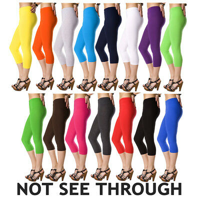 Cotton Leggings 3/4 Length , All Sizes and Colors