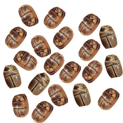 9 Scarab beetle egypt pharaoh beads Carved XS Egyptian Ceramic Stone Beetle 205