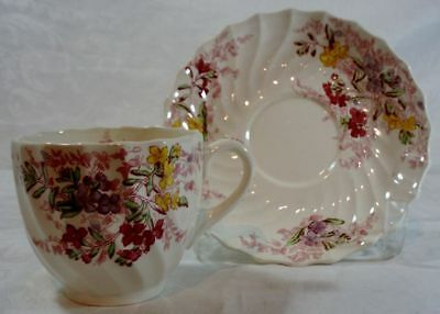 Spode Fairy Dell Cup and Saucer