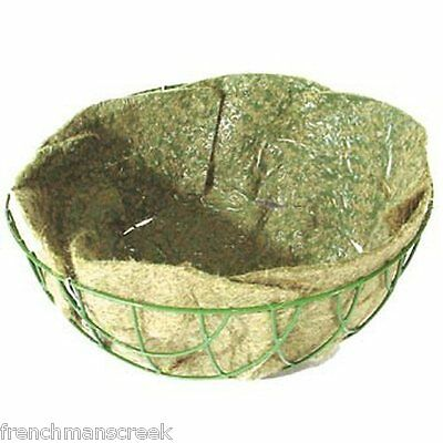 "2 NATURAL JUTE HANGING BASKET LINERS 14"" -Recycled Jute"