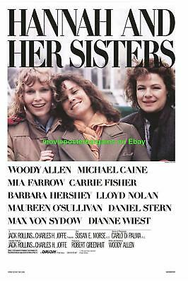 Hannah And Her Sisters Movie Poster Woody Allen