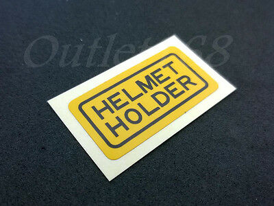 Honda CB CL XL SL CT CG110 CG125 H100 S90 S110 Helmet Holder Sticker Label Decal
