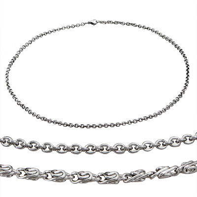 Men's Stainless Steel Necklace Byzantine or Cable Chain