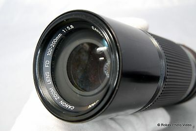 Canon 100-200mm f5.6 FD lens zoom manual focus