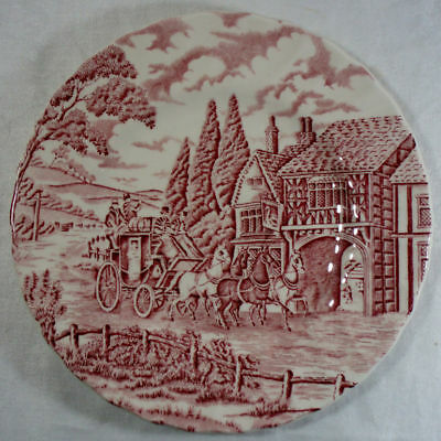 Alfred Meakin Coaching Days-Pink Salad Plate