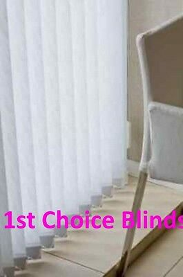 Quality Made To Measure Vertical Window Blinds White / Cream