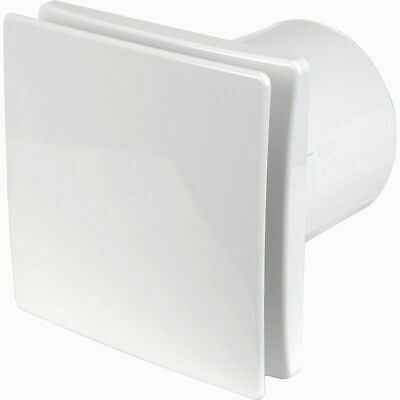"4""/100mm Bathroom Tile Extractor Fan - Solid Front Cover with Inbuilt Timer"